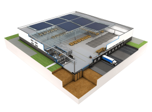 Industrial building schematic view png
